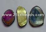 CGP1553 50*75mm - 58*100mm freeform agate pendants wholesale