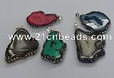 CGP3123 25*35mm - 40*50mm freeform druzy agate pendants