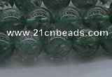 CGQ503 15.5 inches 10mm round imitation green phantom quartz beads