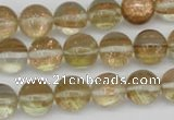CGQ52 15.5 inches 10mm round gold sand quartz beads wholesale