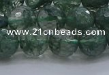 CGQ523 15.5 inches 10mm faceted round imitation green phantom quartz beads