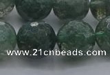 CGQ526 15.5 inches 16mm faceted round imitation green phantom quartz beads