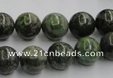 CGR04 16 inches 12mm round green rain forest stone beads wholesale
