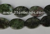 CGR26 15.5 inches 12*16mm oval green rain forest stone beads