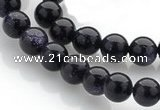 CGS01 15 inches 8mm round blue goldstone beads Wholesale