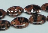 CGS212 15.5 inches 15*20mm oval blue & brown goldstone beads wholesale