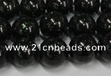 CGS403 15.5 inches 10mm round green goldstone beads wholesale