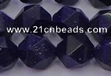 CGS459 15.5 inches 12mm faceted nuggets goldstone beads wholesale