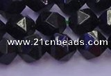 CGS463 15.5 inches 10mm faceted nuggets green goldstone beads