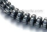 CHE08 16 inches 4*7mm flower shape hematite beads Wholesale