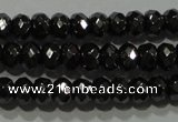 CHE102 15.5 inches 3*4mm faceted rondelle hematite beads wholesale