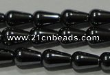 CHE146 15.5 inches 5*8mm teardrop hematite beads wholesale