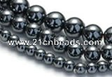 CHE18 16 inches 4mm & 6mm & 8mm round hematite beads Wholesale