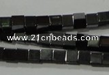 CHE180 15.5 inches 3*3mm cube hematite beads wholesale