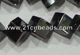 CHE187 15.5 inches 6*6mm cube hematite beads wholesale