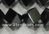 CHE188 15.5 inches 8*8mm cube hematite beads wholesale