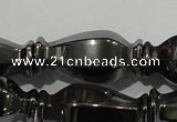 CHE197 15.5 inches 10*20mm vase-shaped hematite beads wholesale