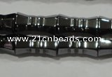 CHE208 15.5 inches 6*12mm bamboo hematite beads wholesale
