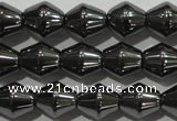 CHE211 15.5 inches 6*6mm bicone hematite beads wholesale