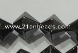 CHE218 15.5 inches 12*12mm faceted bicone hematite beads wholesale