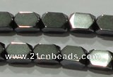 CHE222 15.5 inches 5*8mm faceted cuboid hematite beads wholesale