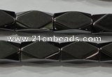 CHE225 15.5 inches 10*20mm faceted cuboid hematite beads wholesale