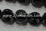 CHE245 15.5 inches 10mm curved moon hematite beads wholesale