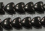 CHE257 15.5 inches 8*8mm heart hematite beads wholesale