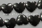 CHE264 Top-drilled 16*16mm heart hematite beads wholesale