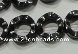 CHE304 15.5 inches 12mm donut hematite beads wholesale