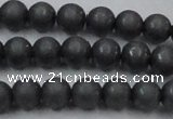 CHE404 15.5 inches 8mm round matte hematite beads wholesale