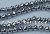 CHE423 15.5 inches 4mm round plated hematite beads wholesale