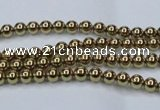 CHE430 15.5 inches 2mm round plated hematite beads wholesale