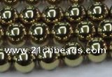 CHE436 15.5 inches 12mm round plated hematite beads wholesale