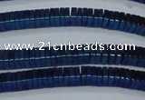 CHE574 15.5 inches 1*3*3mm square plated hematite beads wholesale