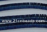 CHE584 15.5 inches 1*4*4mm square plated hematite beads wholesale