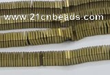 CHE619 15.5 inches 1*2*2mm square matte plated hematite beads