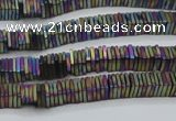 CHE623 15.5 inches 1*2*2mm square matte plated hematite beads