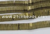 CHE626 15.5 inches 1*3*3mm square matte plated hematite beads