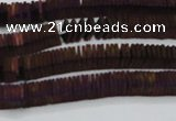 CHE628 15.5 inches 1*3*3mm square matte plated hematite beads