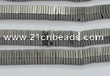 CHE632 15.5 inches 1*4*4mm square matte plated hematite beads
