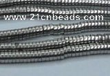 CHE641 15.5 inches 1*2mm tyre plated hematite beads wholesale