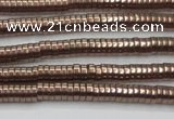 CHE643 15.5 inches 1*2mm tyre plated hematite beads wholesale