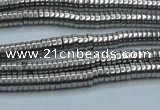 CHE651 15.5 inches 1*3mm tyre plated hematite beads wholesale