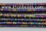CHE657 15.5 inches 1*3mm tyre plated hematite beads wholesale