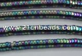 CHE666 15.5 inches 1*4mm tyre plated hematite beads wholesale