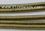 CHE671 15.5 inches 1*2mm tyre matte plated hematite beads