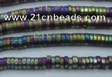 CHE674 15.5 inches 1*2mm tyre matte plated hematite beads