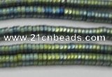 CHE683 15.5 inches 1*4mm tyre matte plated hematite beads