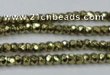 CHE737 15.5 inches 2*4mm faceted rondelle plated hematite beads